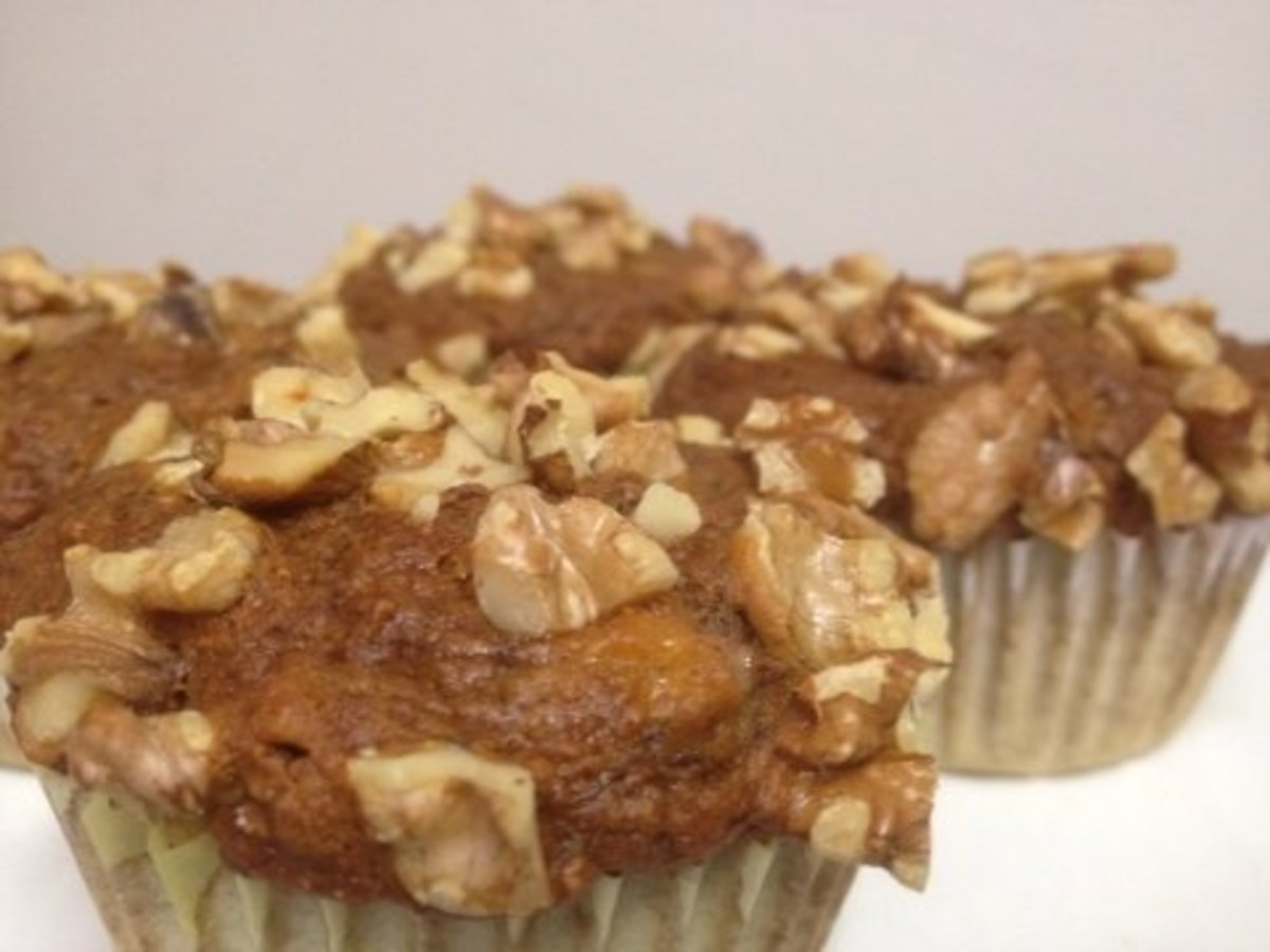 Healthy Banana Nut Muffins With No Oil or Sugar
