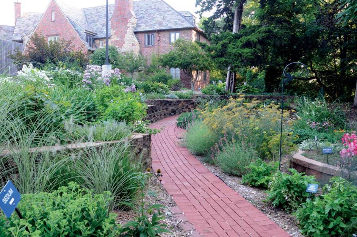 A sensory garden in Lawrence, Kansas