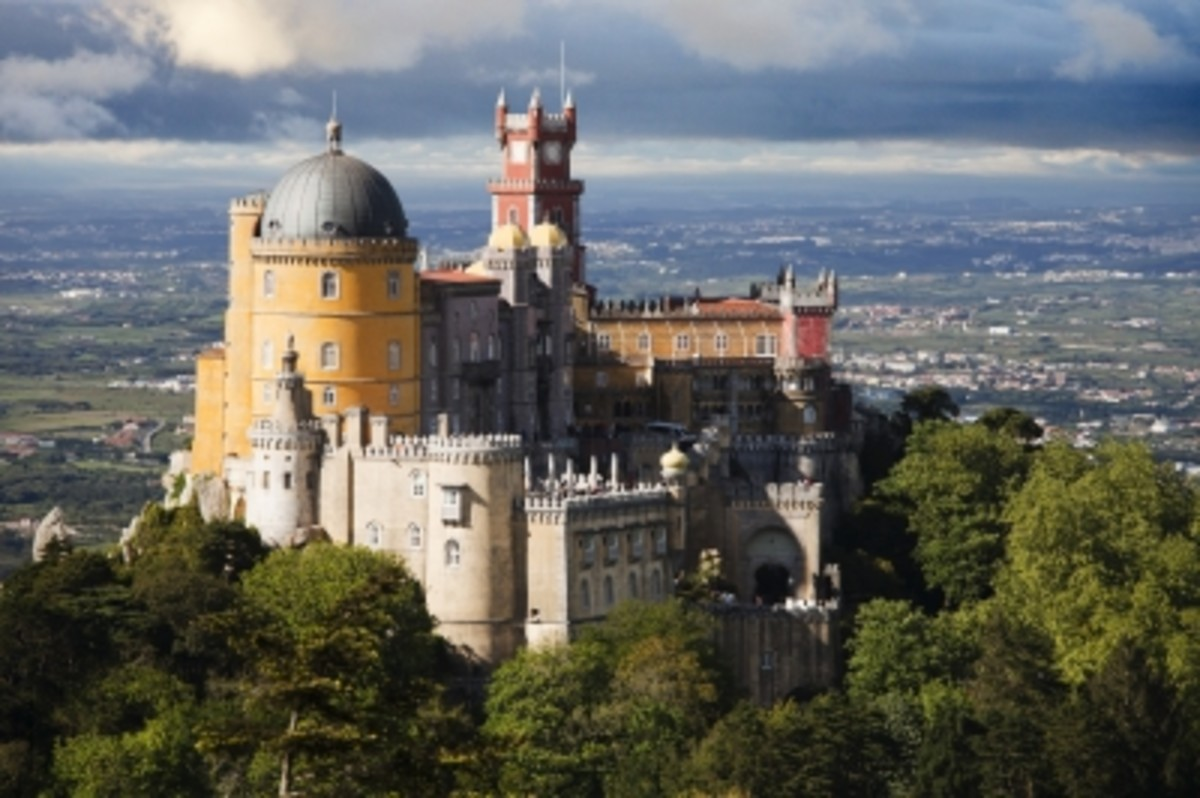 Pena palace in Sintra, which is one possibility of a fabulous day trip from Lisbon