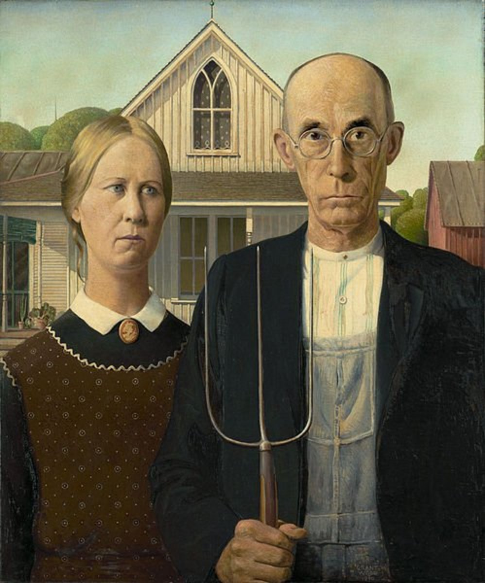 American Gothic, a famed painting from the twentieth century that failed to define itself within the bounds of the largest art movements of the time.