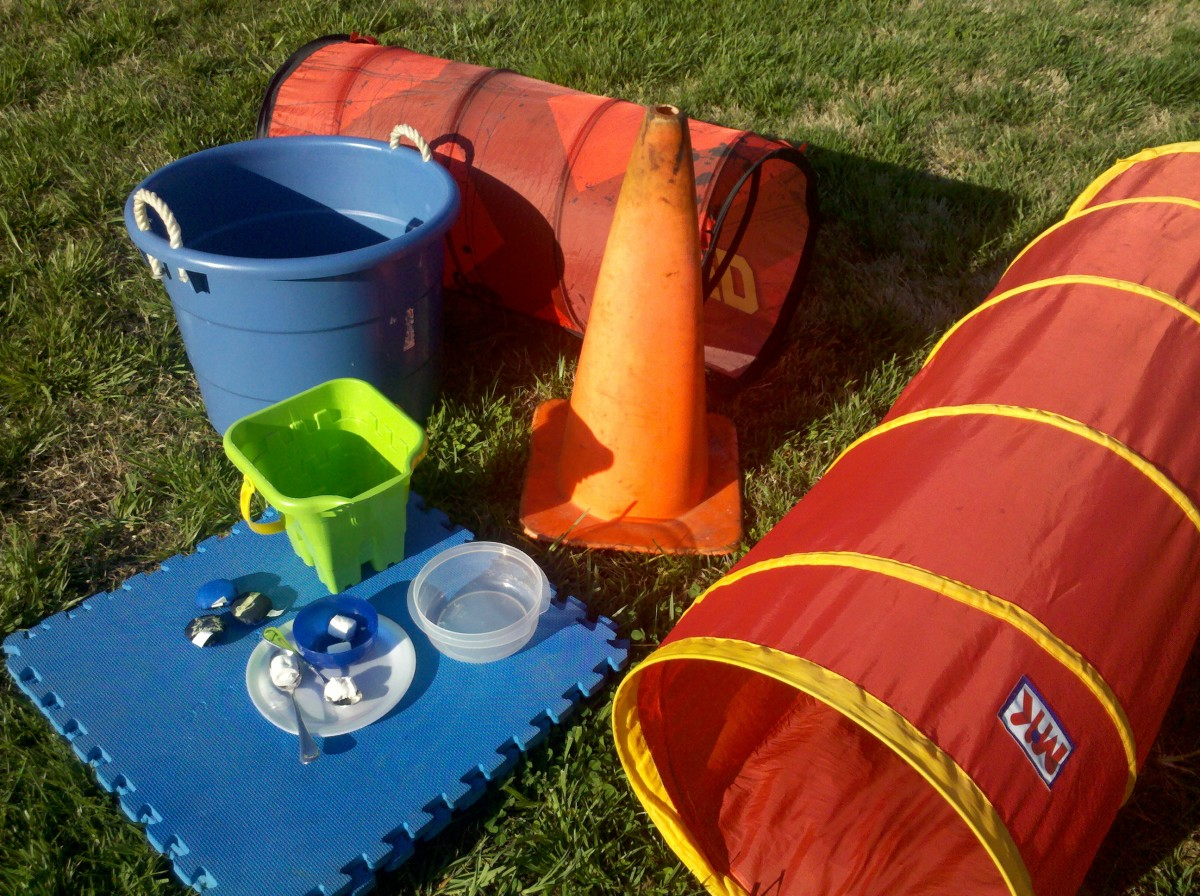 A few options for a fun obstacle course for your kids.
