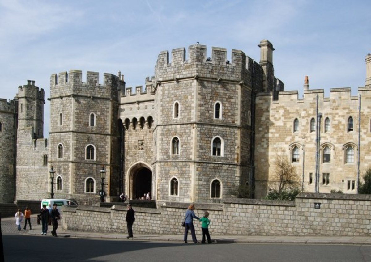 Windsor Castle is one of the Queen's favourite residences.  Her father, George VI, reportedly saw the ghost of Anne Boleyn in the castle.
