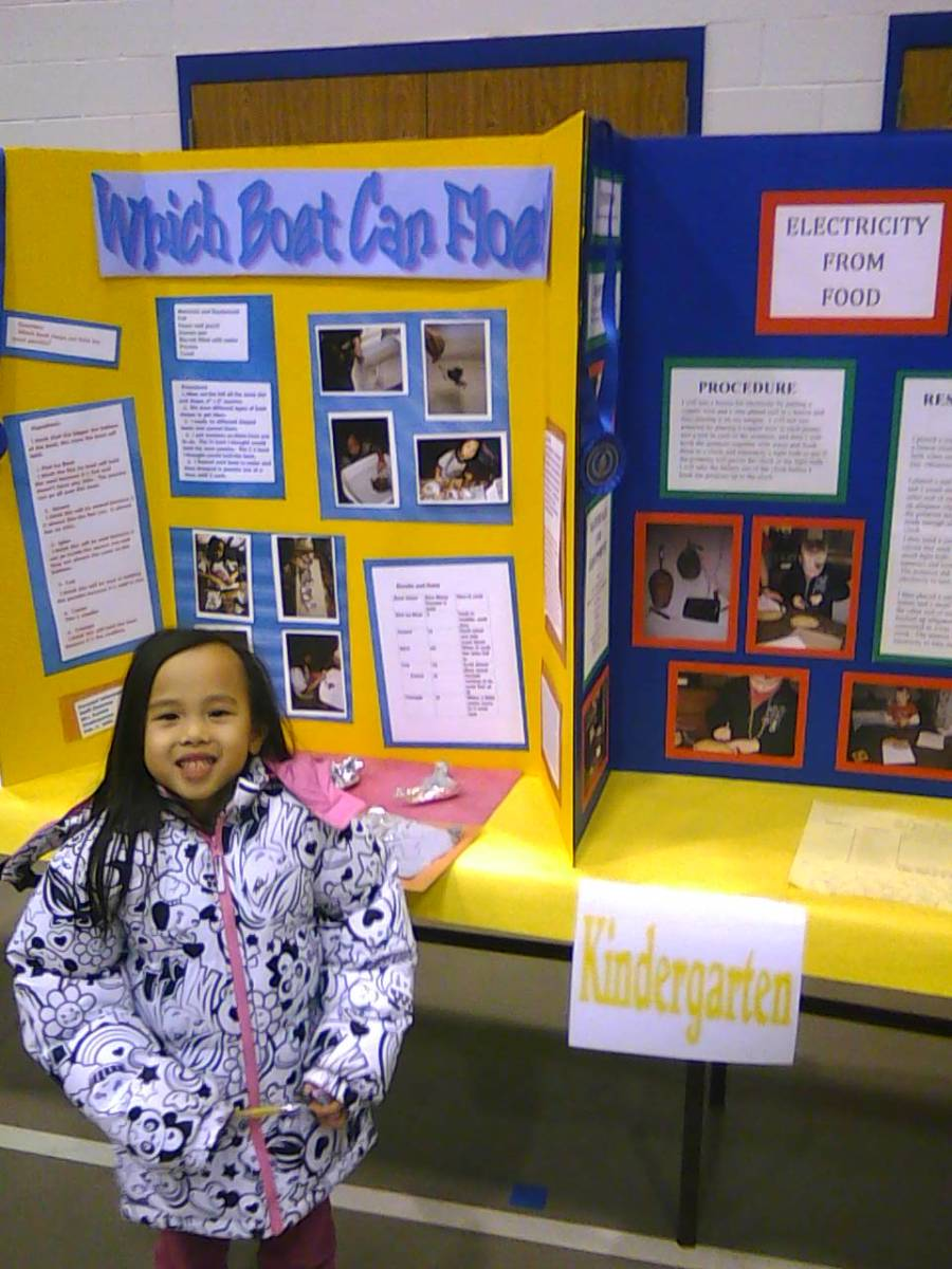 Kindergarten Science Fair Project: Which Boat Can Float?