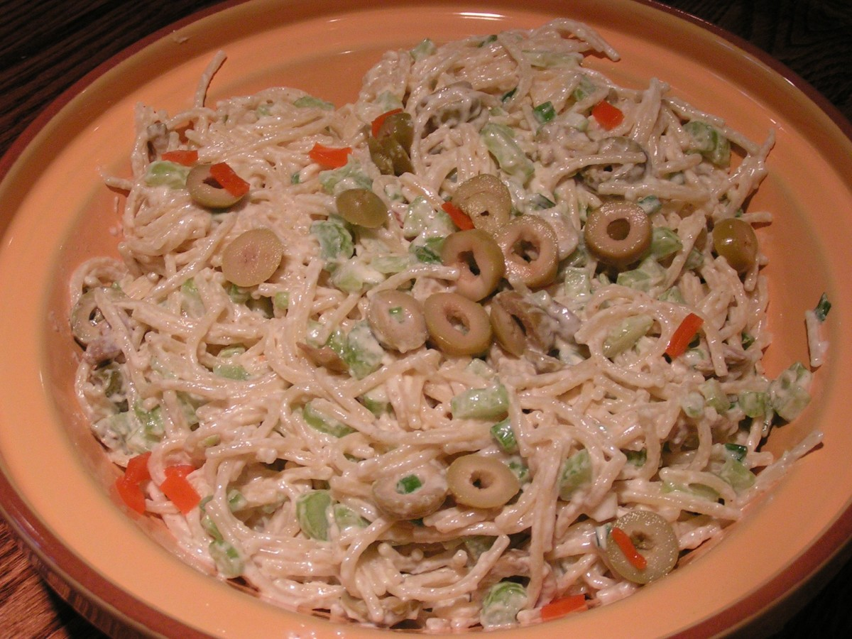 Spanish Olive Pasta Salad Recipe