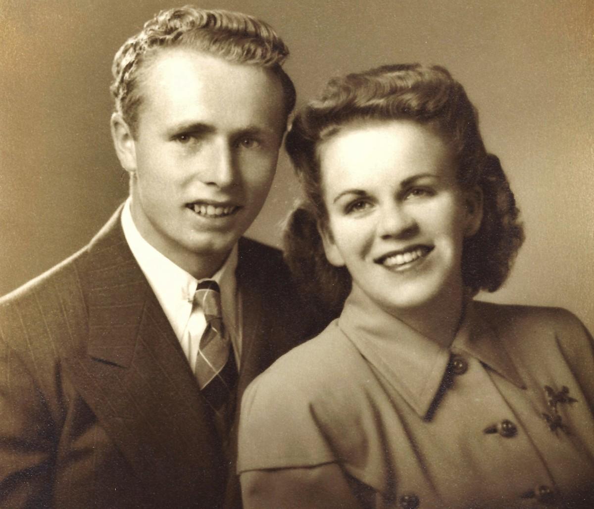 One of my parent's wedding photos, 1946