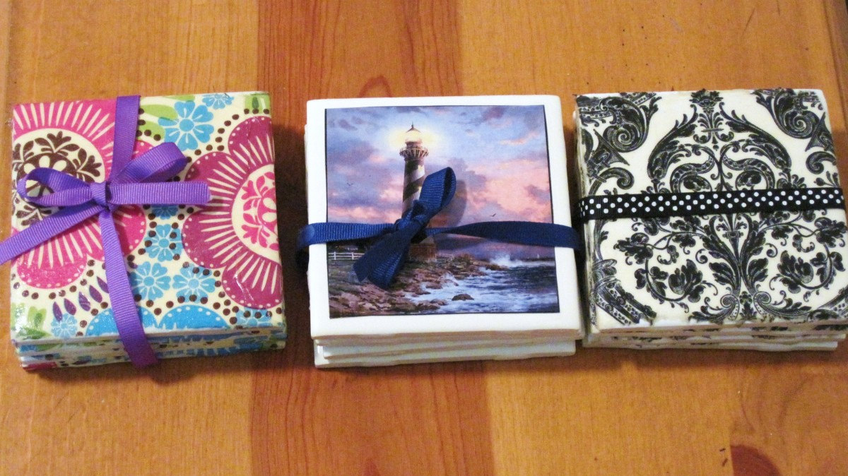 How to Make Ceramic Tile Coasters Using Napkins or Photos