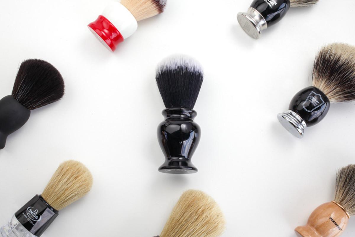 "Using a shaving brush or ""badger"" can help reduce ingrown hairs."