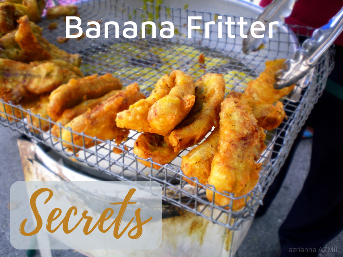 Learn the art of making perfect banana fritters!