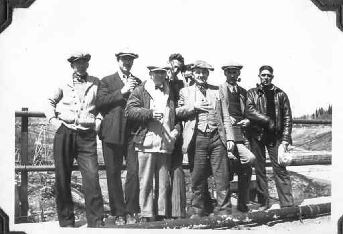Abitibi Canyon power plant construction crew, circa. 1932