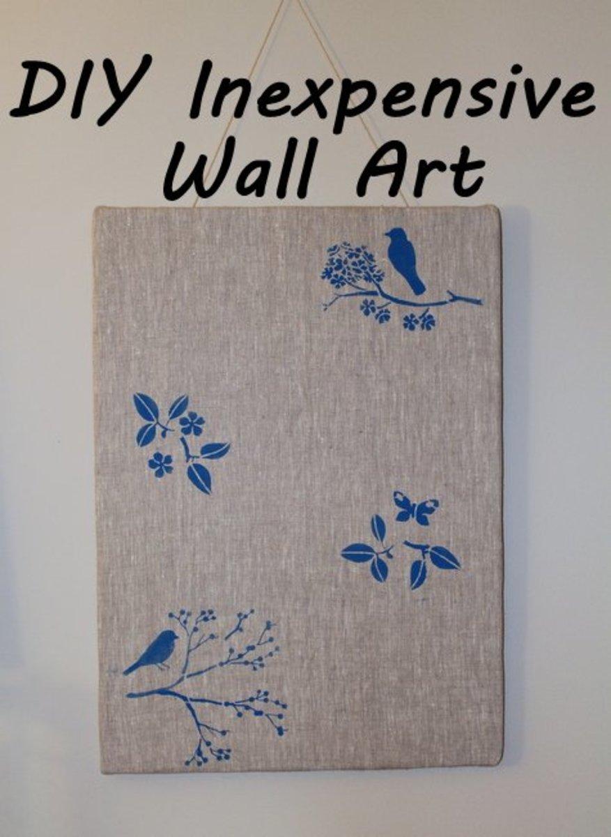DIY Form Board Fabric Wall Art Panel Decor