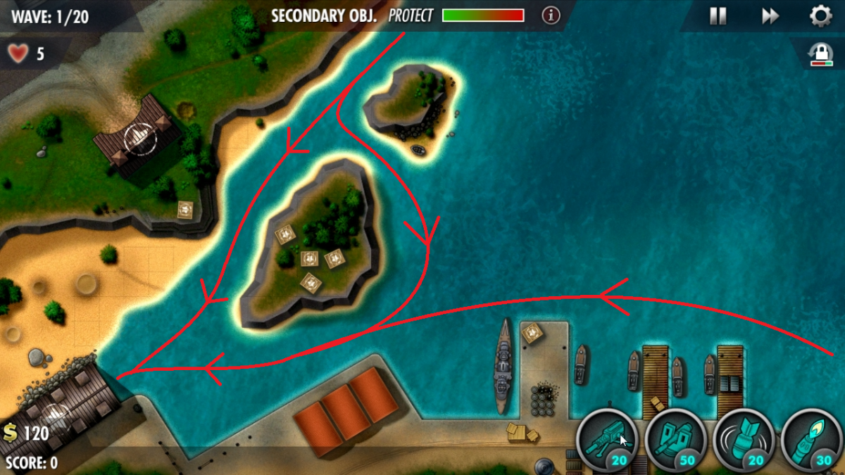 """""""iBomber Defense Pacific"""" Level Guide: Midway Atoll (Veteran)"""