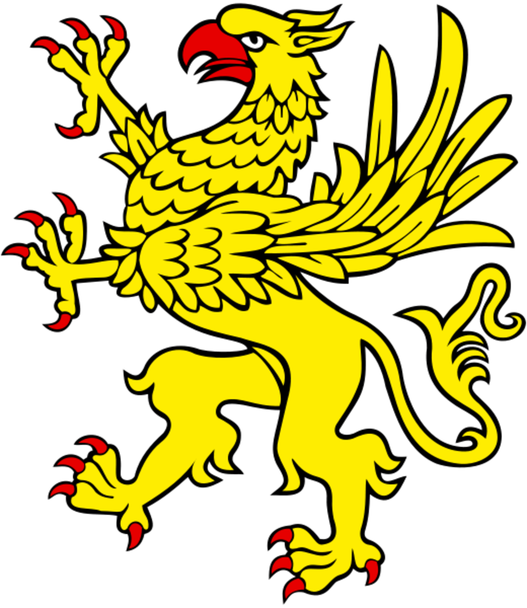 The Griffon d'Or, the golden griffon, is a symbol in medieval French heraldry.