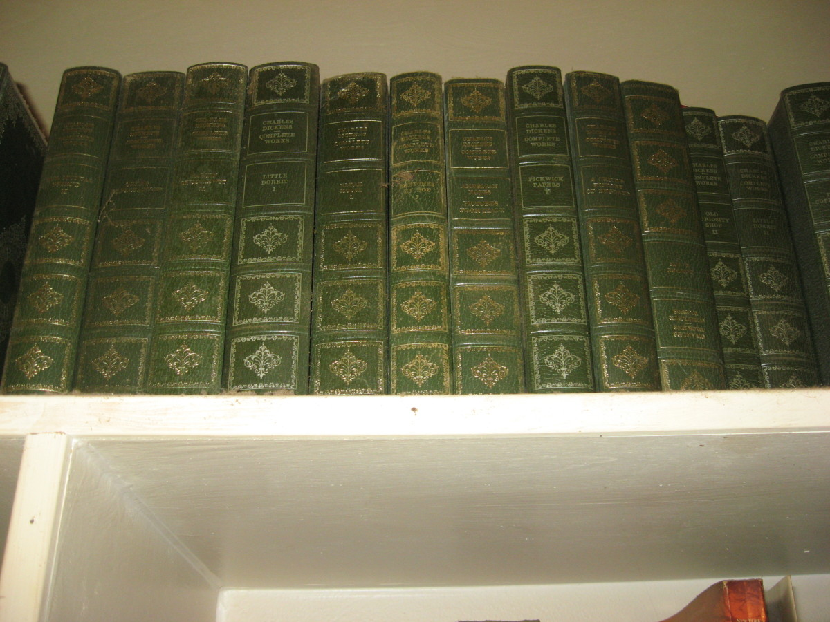 I have all of Charles Dickens' novels.