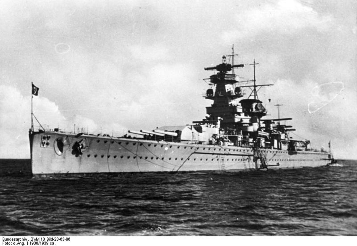 German pocket battleship Admiral Graf Spee. 1936.
