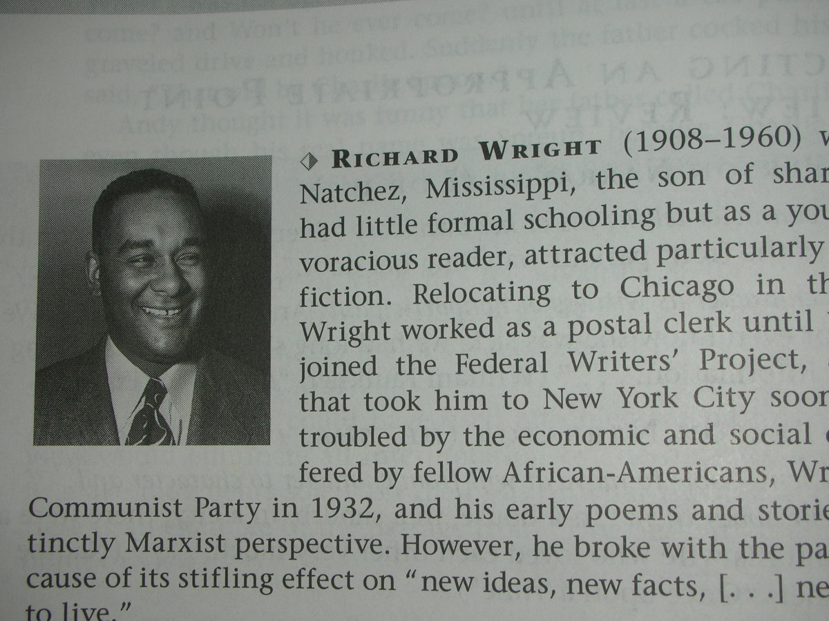 Picture of Richard Wright and biography