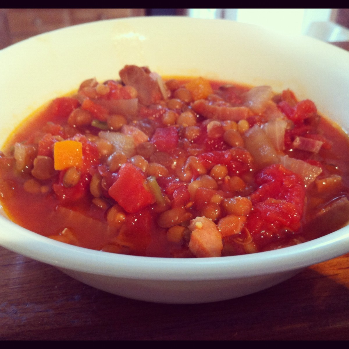 Easy Lentil and Ham Slow Cooker Soup Recipe