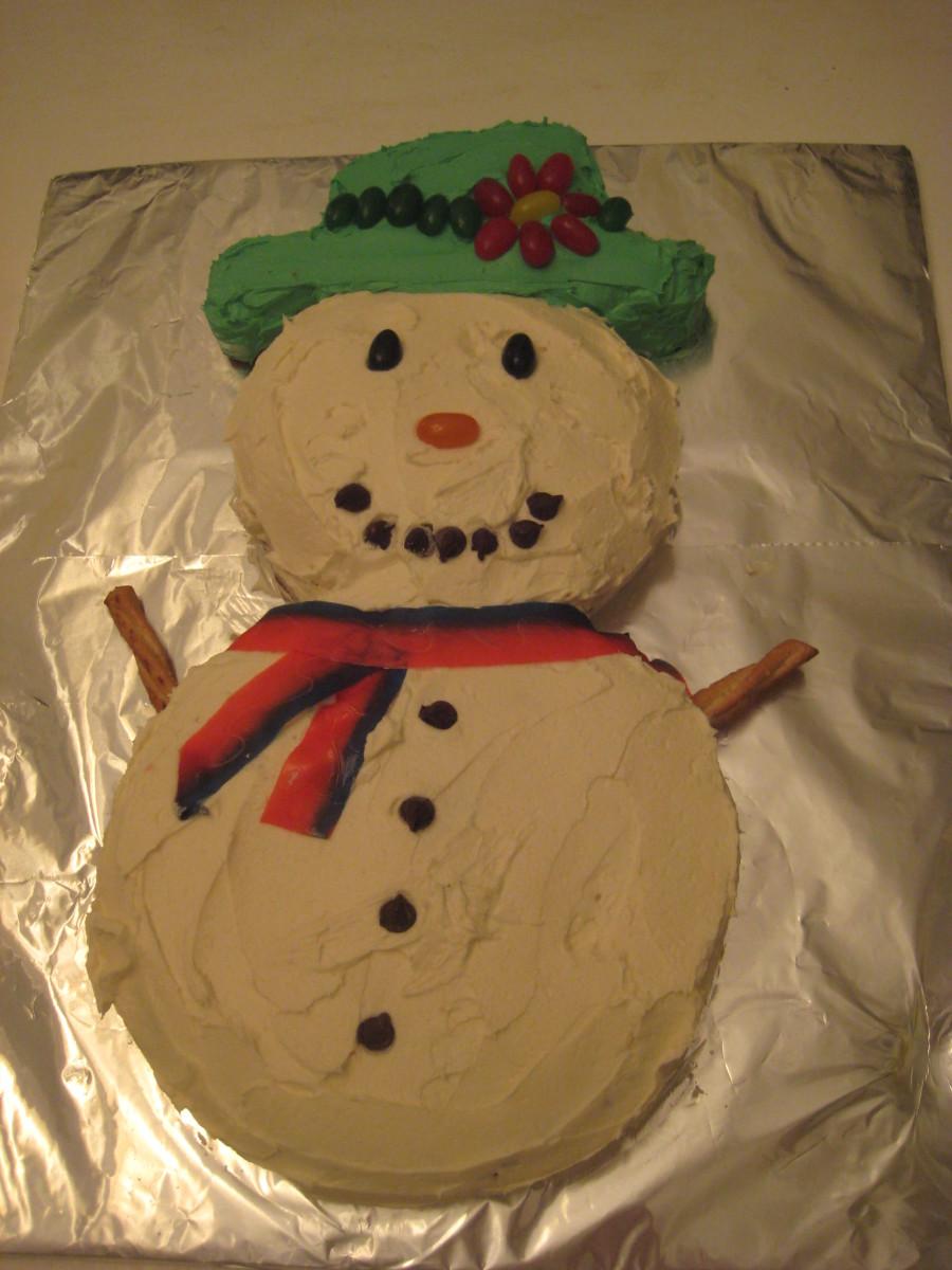 How To Make A Snowman Cake An Easy Fun Christmas Cake