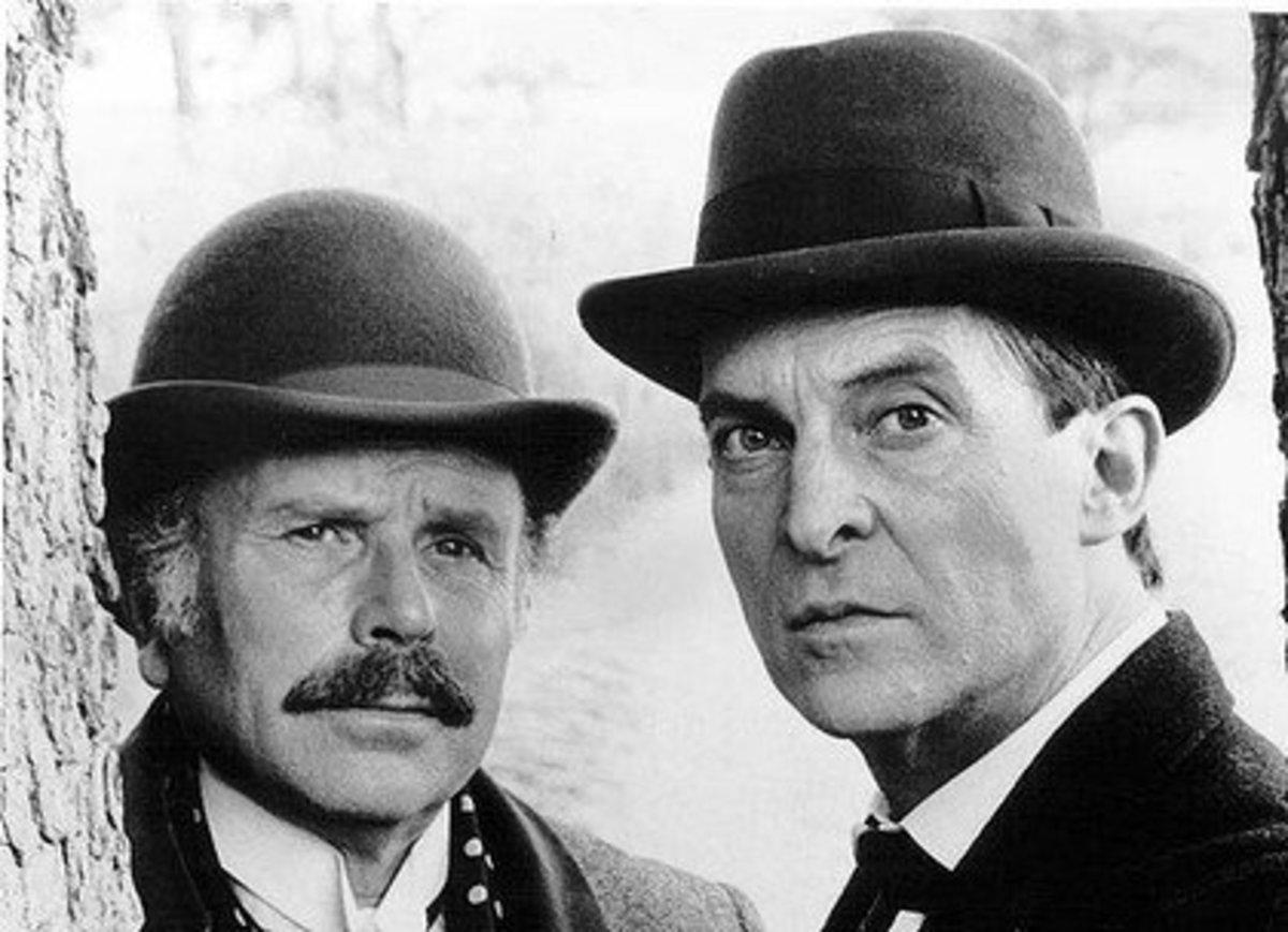 Doctor John Watson (as portrayed by Edward Hardwicke - left) with Sherlock Holmes (Jeremy Brett - right)