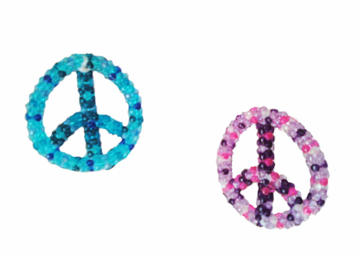 How to Make a Beaded Peace Sign Ornament