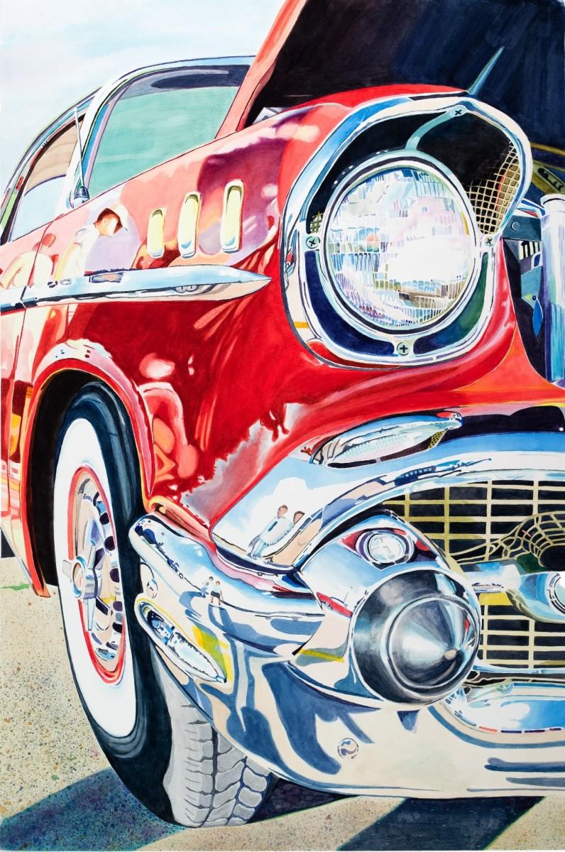 """Fifties Fender II, Watercolor, 30 x 20"""""""