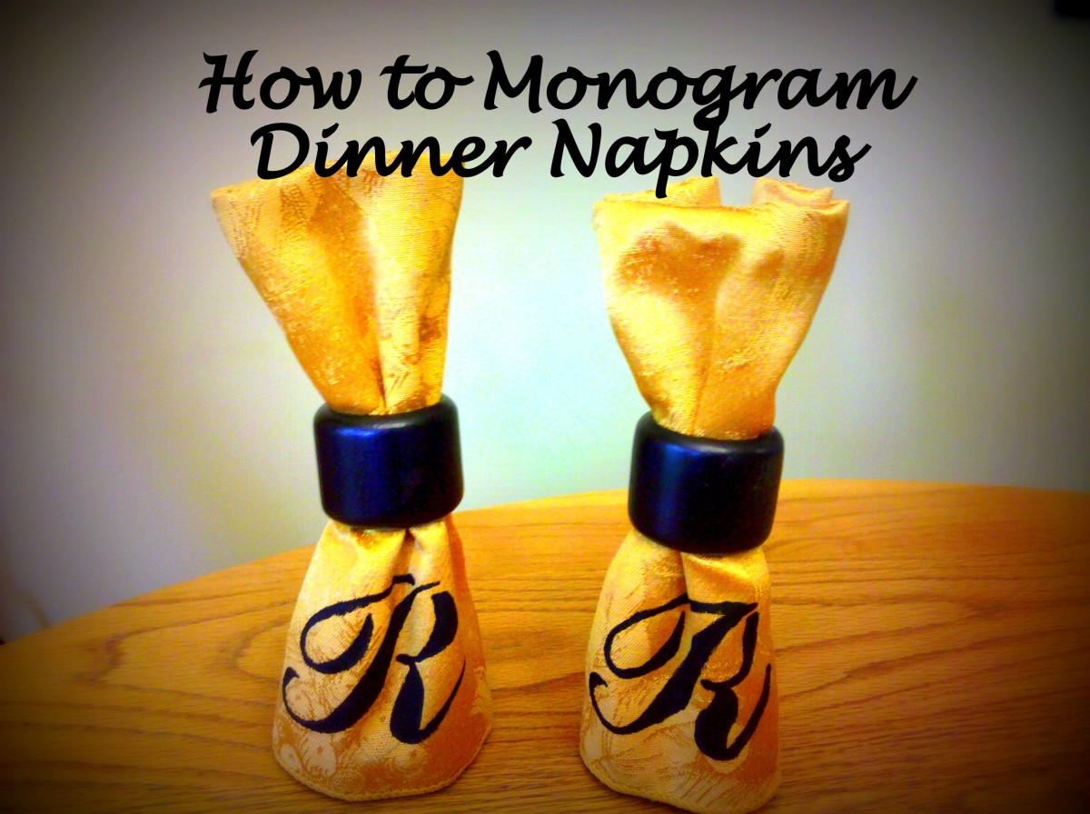 Add a monogram to your cloth dinner napkins as an easy way to update your dinnerware!