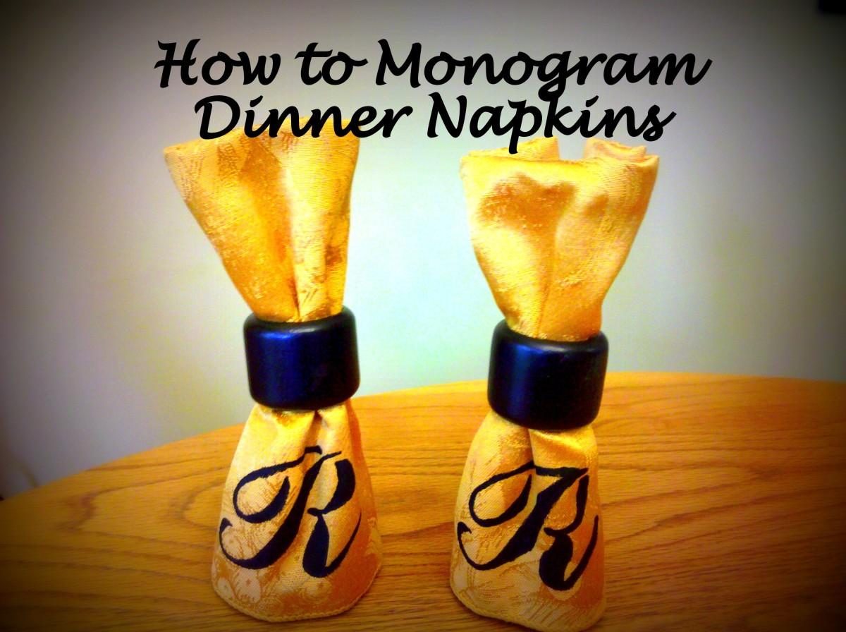 How to Monogram Cloth Dinner Napkins