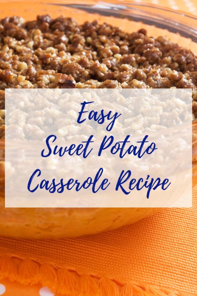 Sweet potato casserole with walnut topping