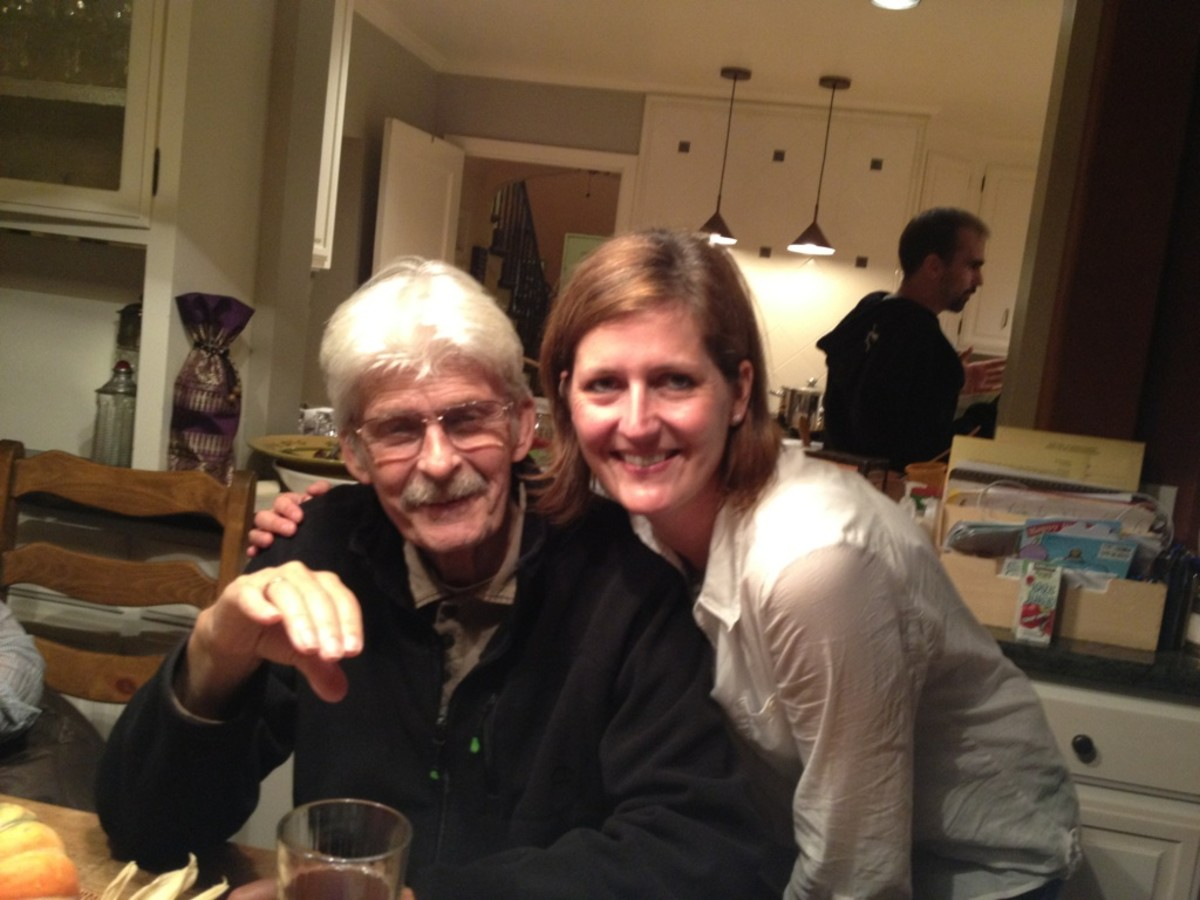 A treasured (last) picture of my father and I in October 2011.