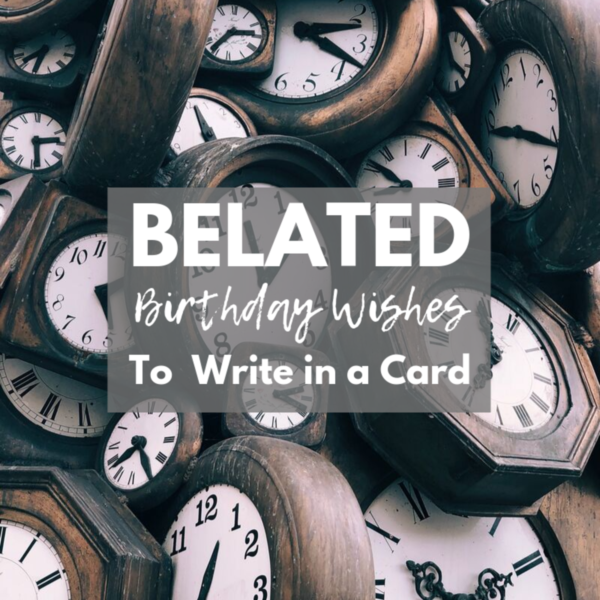 If you missed someone's birthday, your belated birthday card had better be a good one!