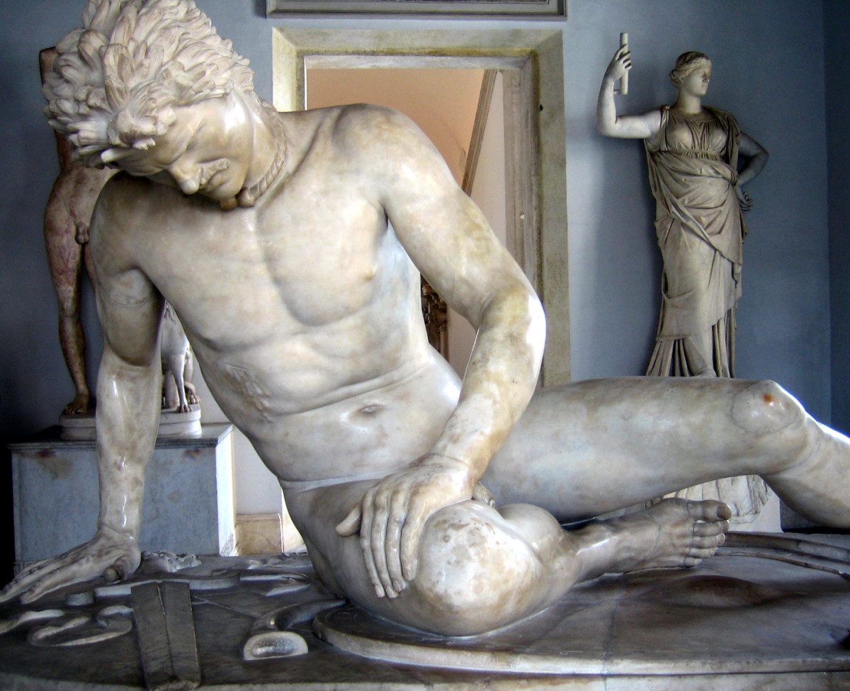 For a lot of the Western world's history, barbarians were foreigners, like this romanticized dying Gaul here. We still think of barbarians like this today. Conan? What do you mean Conan? Oh, right! That guy . . . I've got a picture of him somewhere.