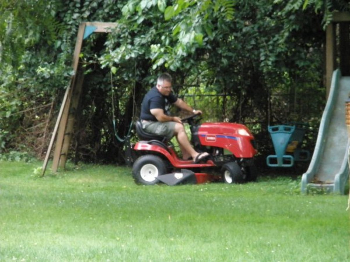 Lawn mowing can still the mind, one turn at a time.