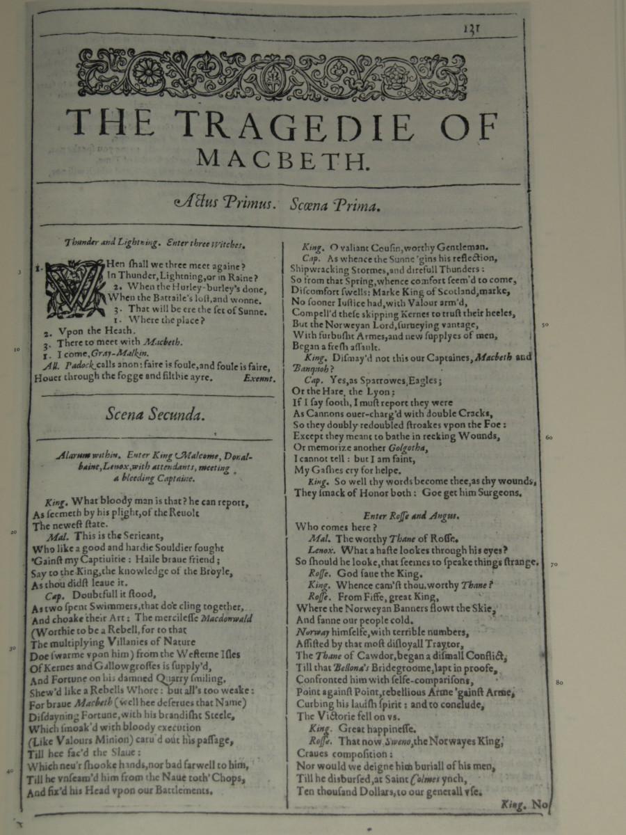 The First Folio - Macbeth