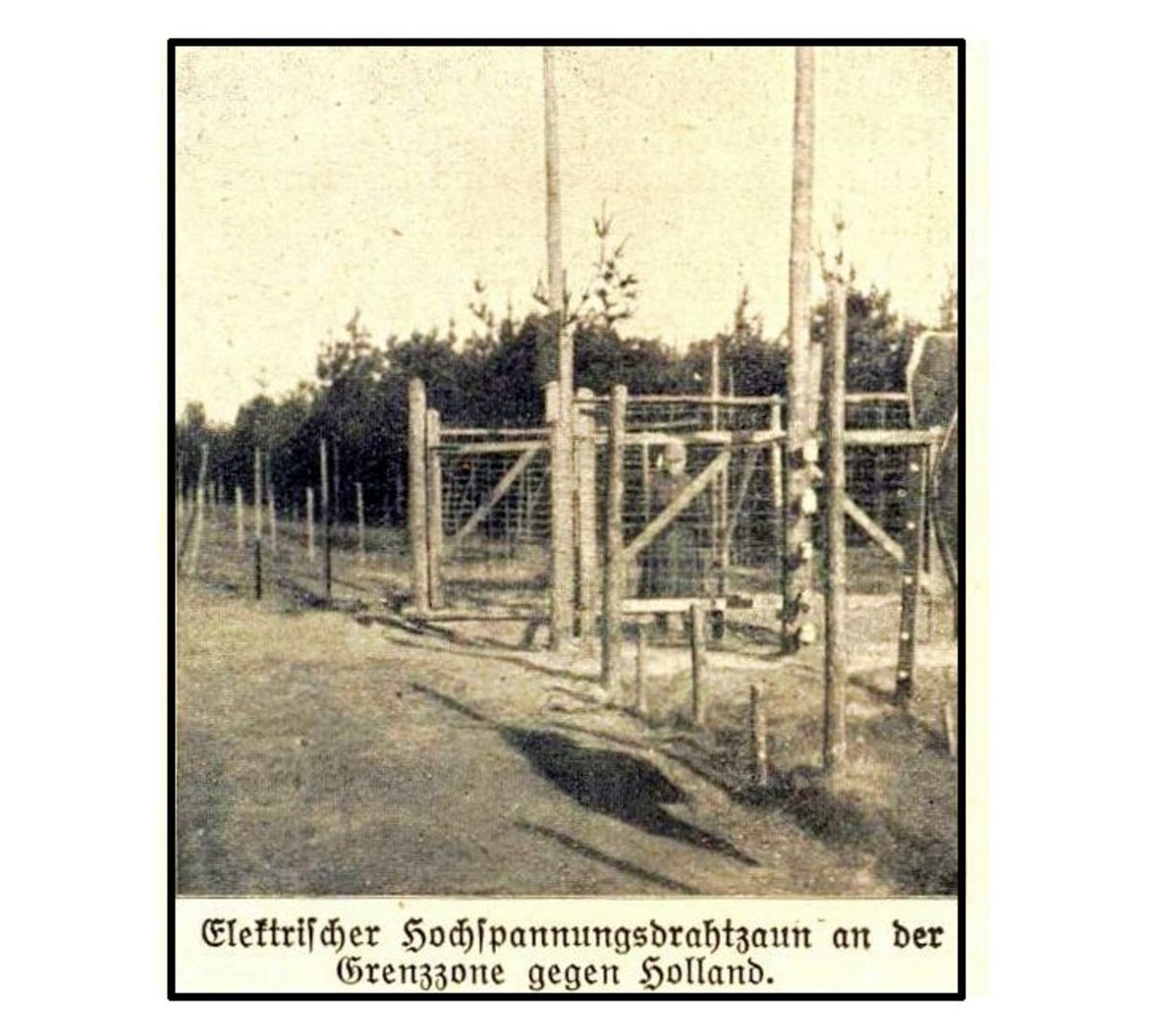 WW1: The high voltage border obstacle on the Belgian Dutch border (1915-1918 )