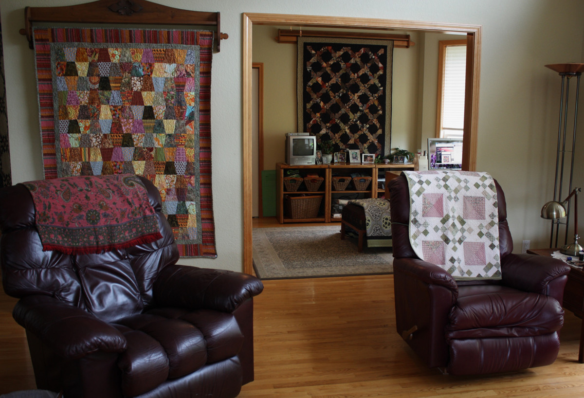 Quilts can be used throughout the home because they are both beautiful and useful.