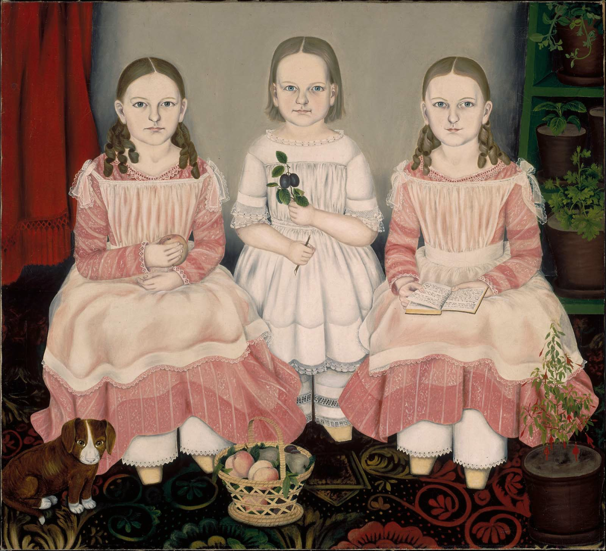 American Folk Artwork - The Lincoln Children