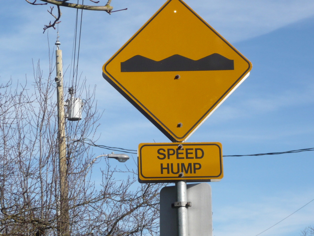 A speed hump: there are emotional ones too.
