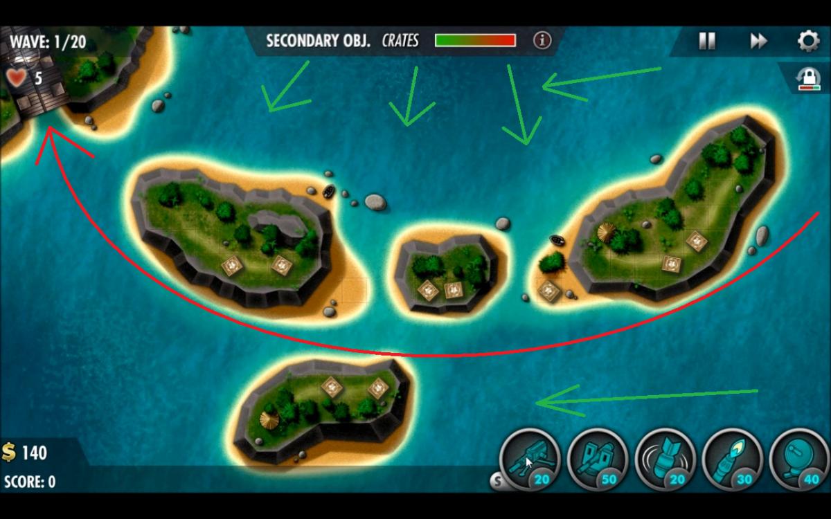 """Coral Sea - Veteran Level Guide - """"iBomber Defense Pacific"""""""