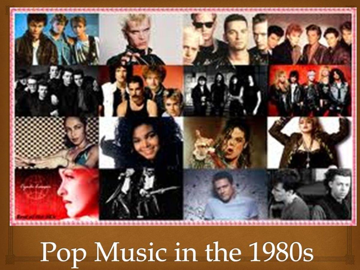 Trendy 1980's popular music culture