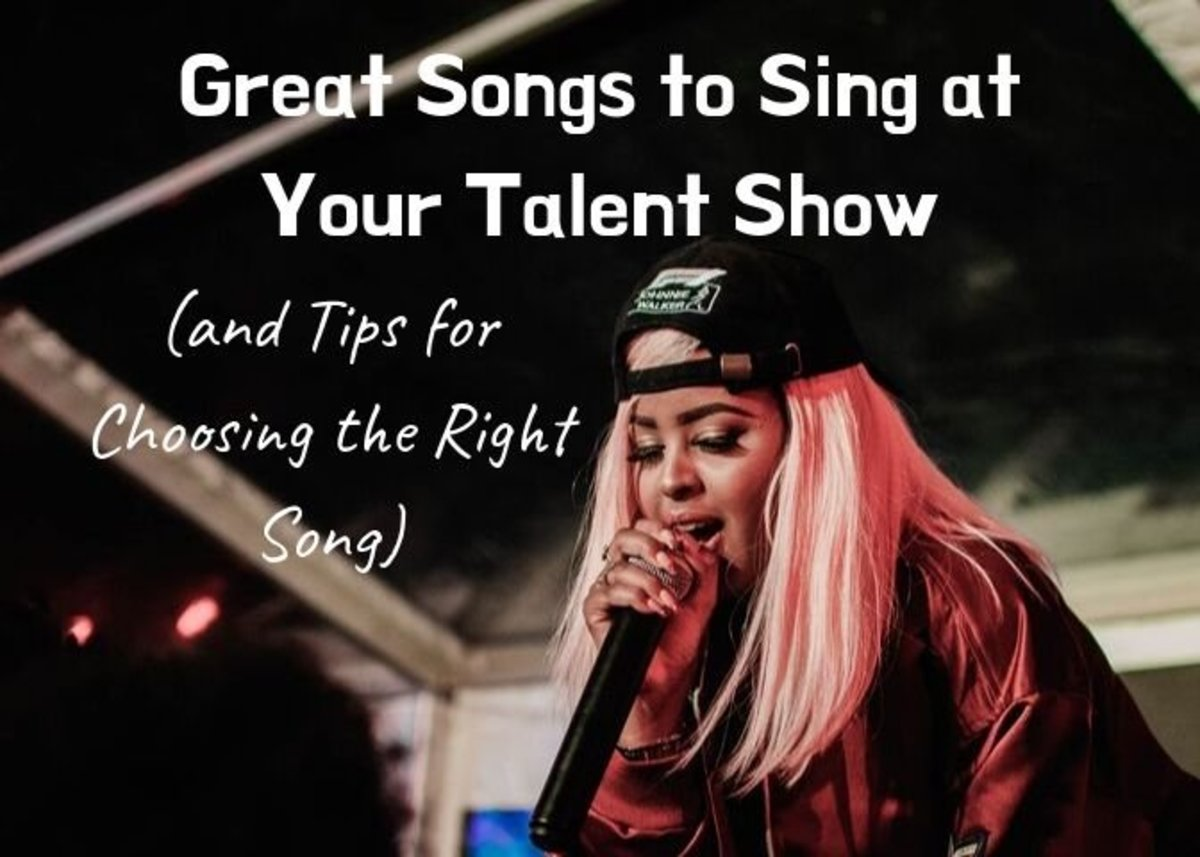 At a loss for what to sing at your talent show? This list has tons of ideas!