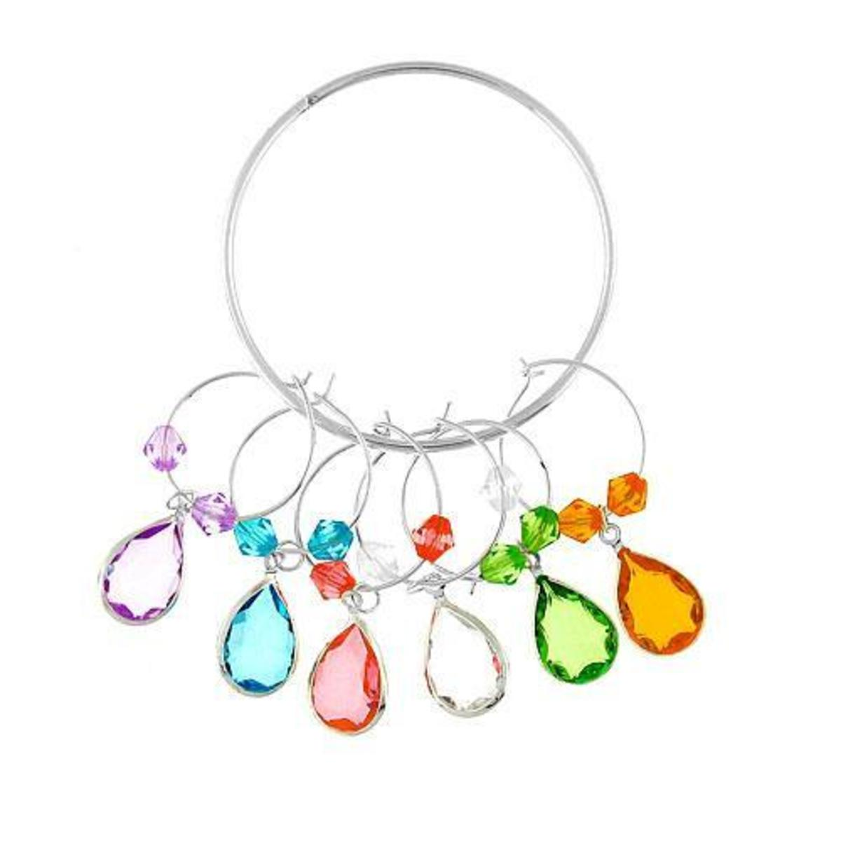 How Make Your Own Wine Glass Charm Rings and Markers