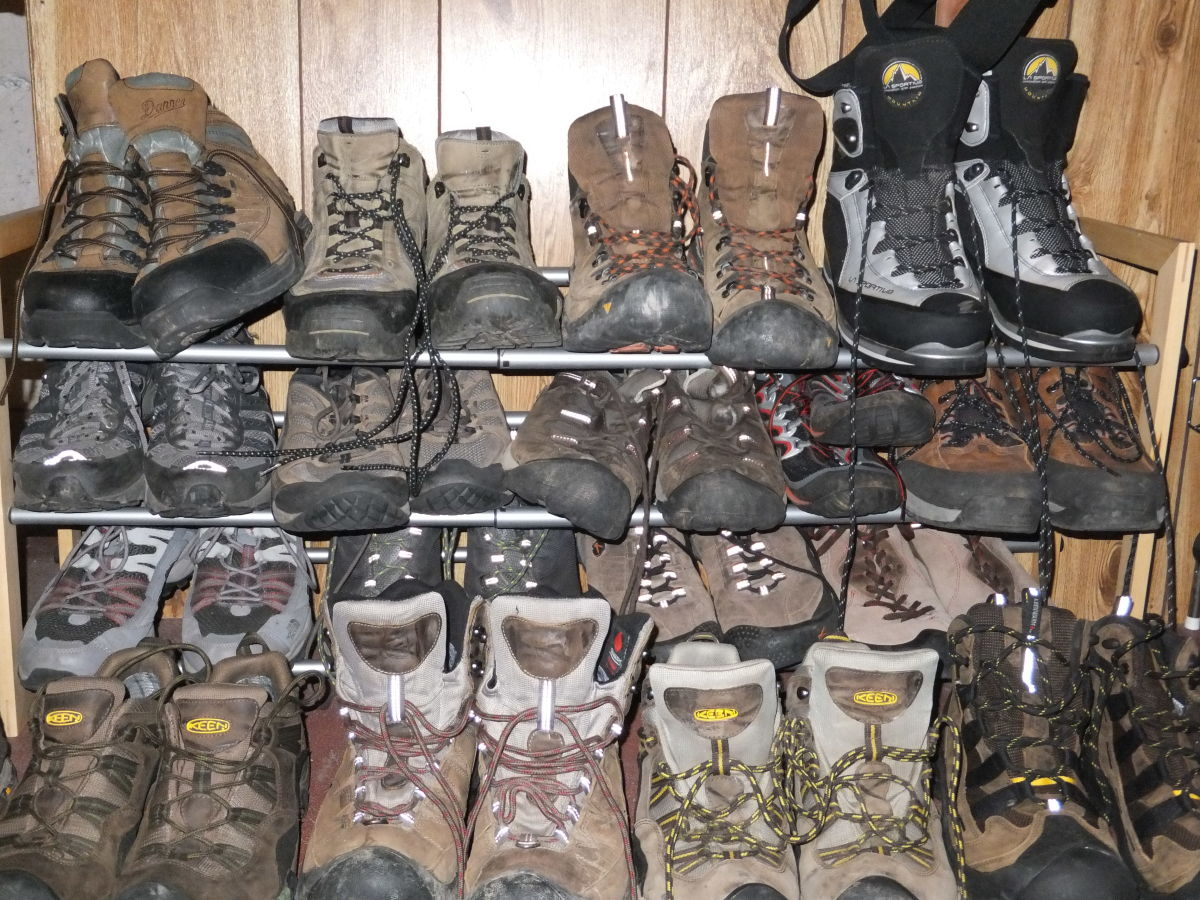 b5471dc4e08 Though not all hikers and backpackers have a huge quiver of boots to choose  from