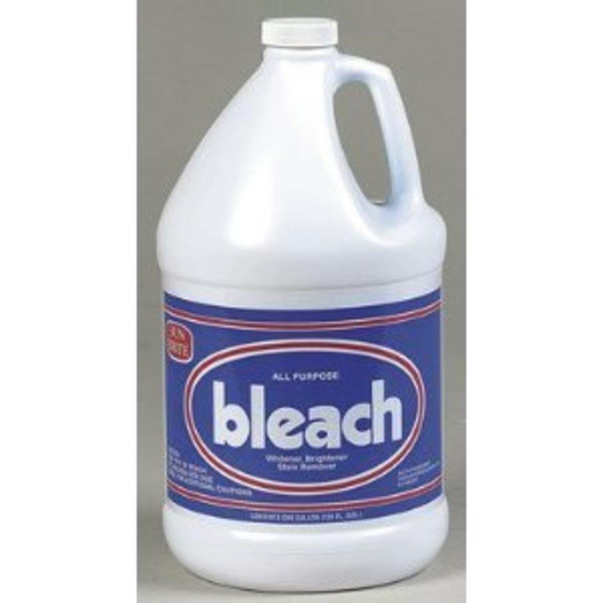 household chlorine bleach