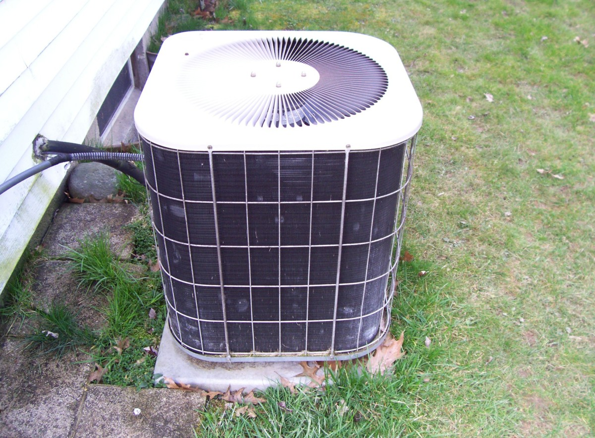 The condensing unit is very sensitive to dust and dirt build up because it needs the airflow to operate properly and efficiently.