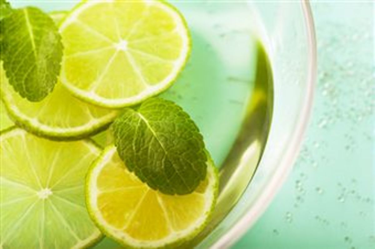 "Lemon Mint Infusion - a simple and refreshing ""pick me up"" beverage"