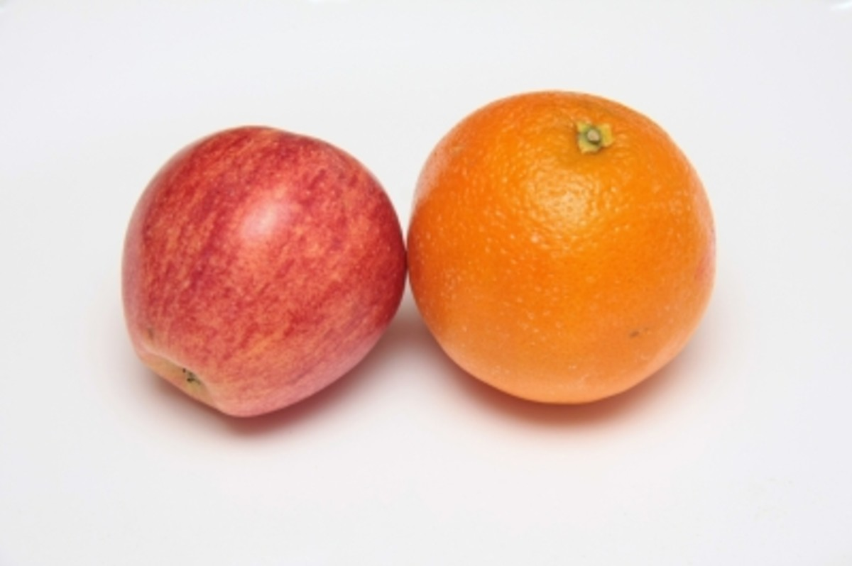 Example: Orange is bigger than apple. (comparative degree)