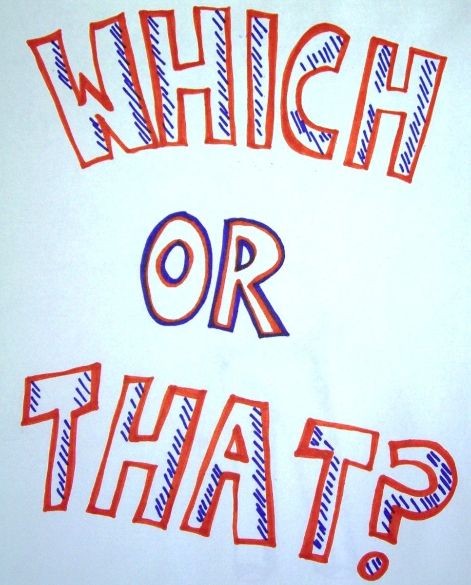 "My sketch of ""which"" or ""that."""