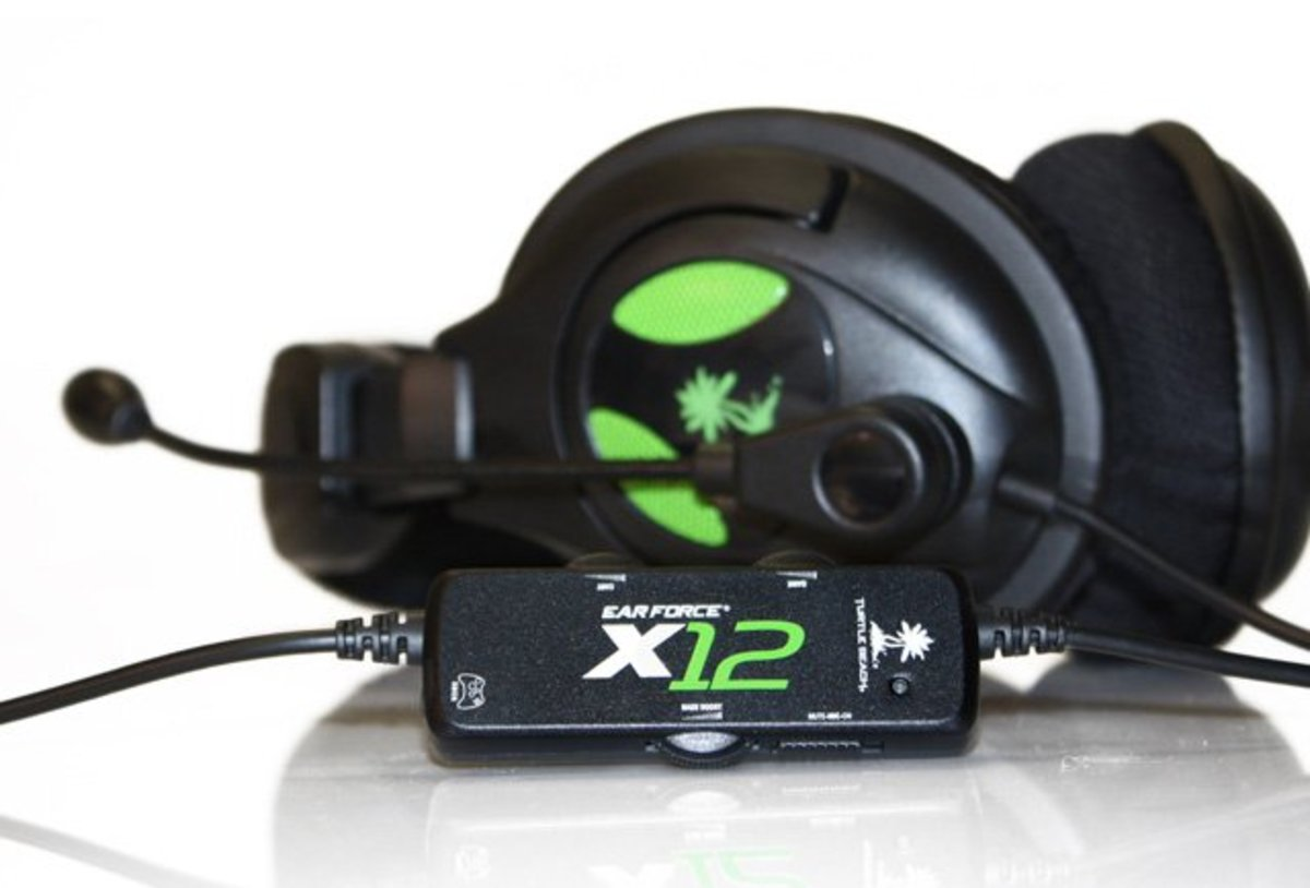 The Turtle Beach Ear Force X12 headset offers flexibility and can be used with the Xbox 360, PlayStation 3 and computer systems.