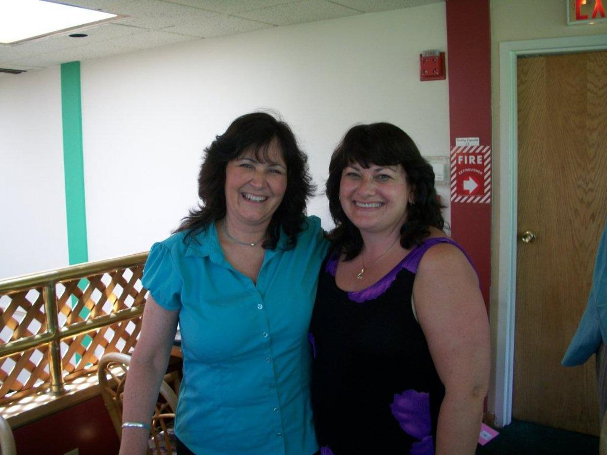 Me ( left) and my friend Christine Singer, a wonderful, loyal friend for 42 years!