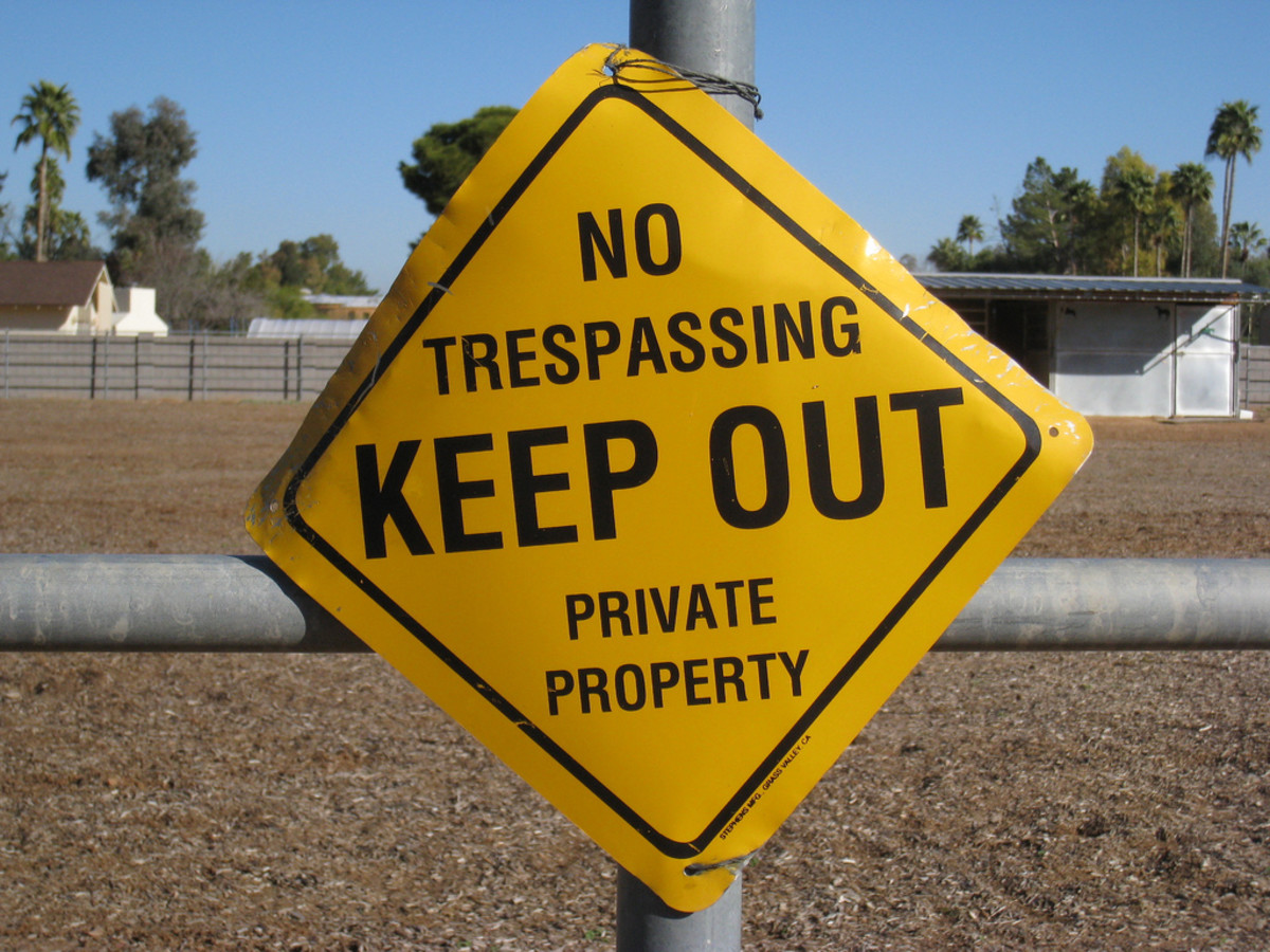 Adverse possession relates to trespassing.