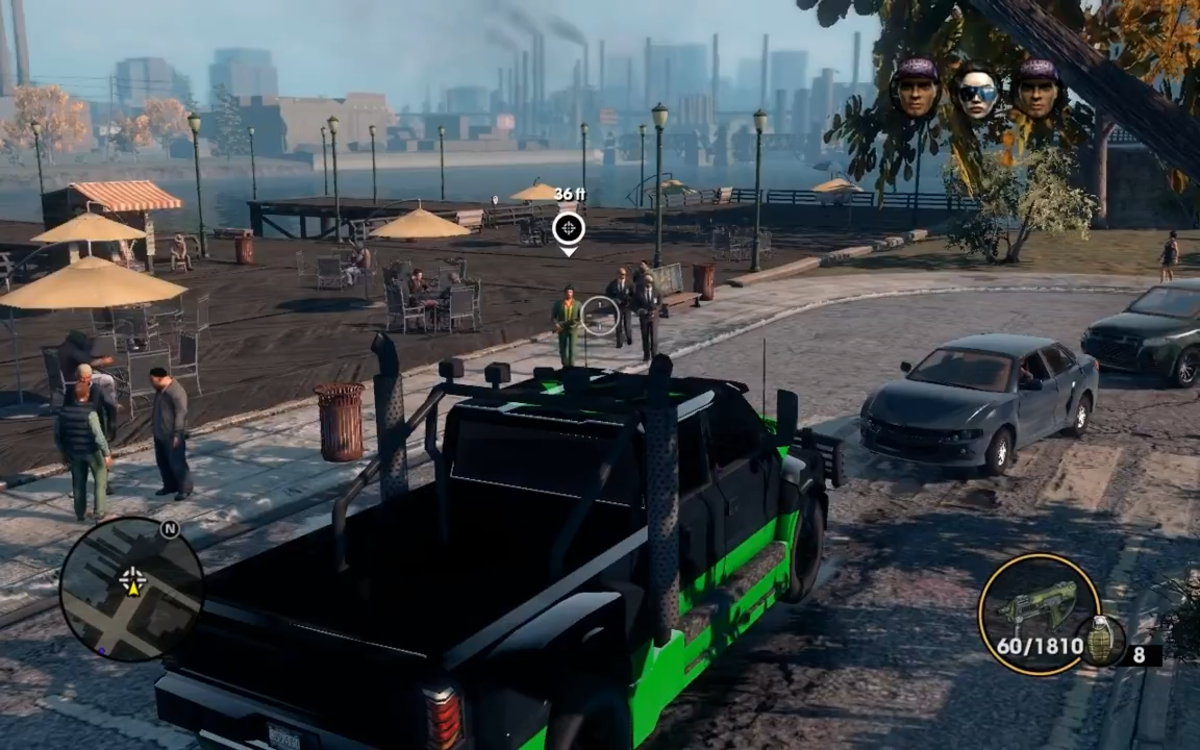 The target and his body guards spawn at the drop off point at the docks in Sunset Park.